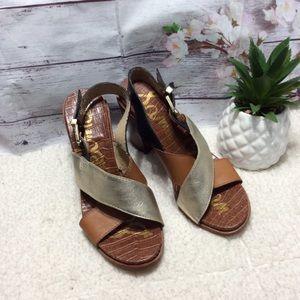 Sam Edelman Block Heel Open Toe Sandals Sz 8.5